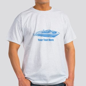 Motorboat. Add Your Text. Light T-Shirt